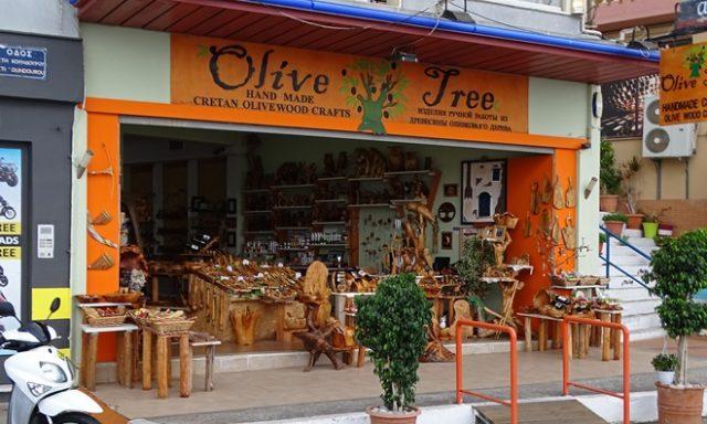 Tourist Shop Souvenirs | Agios Nikolaos Lasithi Crete | Olive Tree Handmade Crafts