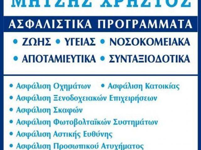 ΑΣΦΑΛΙΣΤΙΚΟ ΓΡΑΦΕΙΟ ΠΡΕΒΕΖΑ | ΜΗΤΣΗΣ ΧΡΗΣΤΟΣ